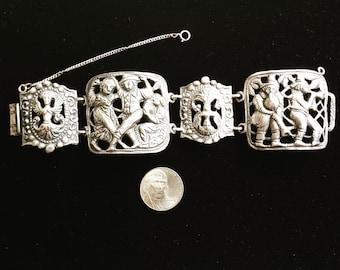 Vintage Sterling Silver .925 Cini Bracelet Bangle