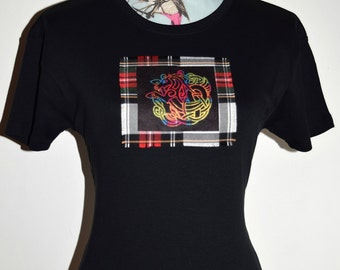 Celtic Horse - custom made t-shirt - Celtic Knot - Tartan Clothing - Novelty Gift - Gifts for her - Made in Scotland