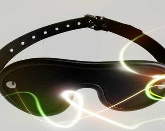 Leather blindfold black, eyemask