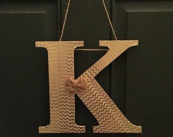 Monogram/ letter wreath