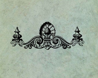 Neoclassical Foliate Header Border - Antique Style Clear Stamp