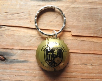 Hertog Jan Dutch beer bottle cap key chain - Handmade by Charlie
