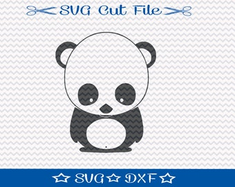 Panda Bear SVG Cutting File /  Cut File for Silhouette or Cricut / Animal SVG