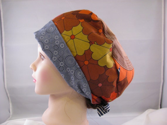 Women's Pixie Scrub Hat Flowers and Circles