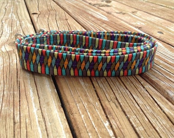Fabric-Wrapped Dog Leash in Jester