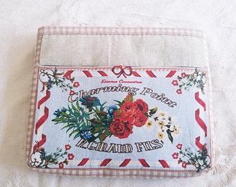 Handmade pouch-Vintage bag - Bag in Bag By Grandma