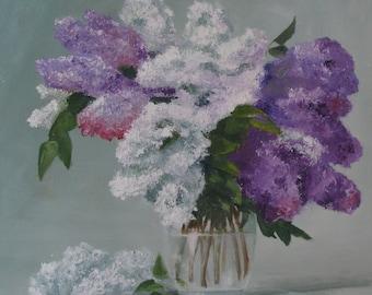 Bouquet lilac, Originabild, oil on canvas, 50x70cm