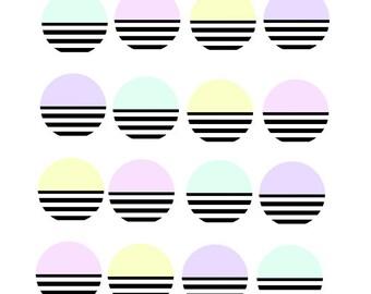 Sticker Pastel / Stripes