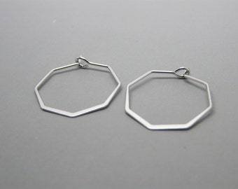Hammered wire Hexagon earrings, Geometric earrings, Hoop earrings, Minimalist hoop earrings, Hammered jewelry
