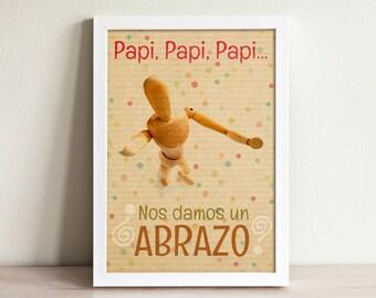 Nursery decor - Nursery wall art - Inspirational nursery - Kids room art - Fathers day gift - Hug