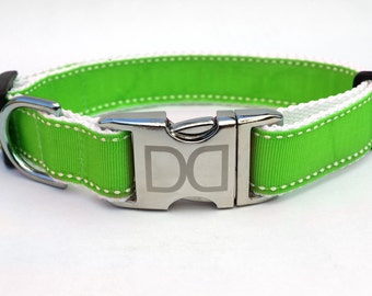 Preppy in Lime Dog Collars