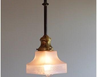 A1030 Antique Set of 3 Historical Revival Brass/bronze Pendants