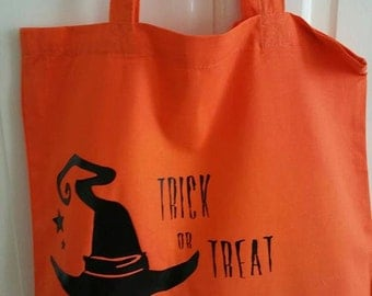 Trick or Treat Bag - Tote - Orange Bag - Halloween - Trick or Treating bag - sweet bag - All Hallows Eve