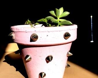 Handmade Spiked Planter
