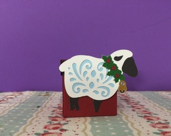 Xmas Sheep Gift Box/favour/sweetie/surprise/treat/table/tree decoration