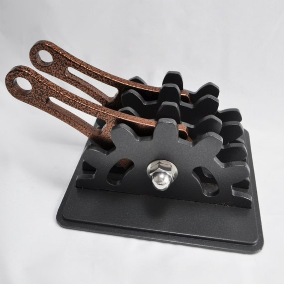 Steampunk Double Lever Wall Switch Plate With Copper Levers