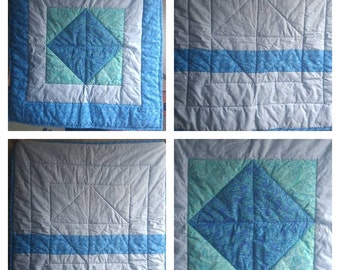 Little Blue crib or lap quilt