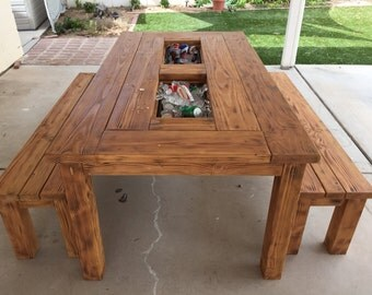 Outdoor Table w/Coolers