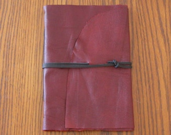 Large Red Leather Journal