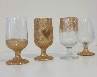 Votives, Gold Votives, Votive Holders, candle votives, Champagne, Champagne wedding, Gold Votives, Bridal shower decor, table decor
