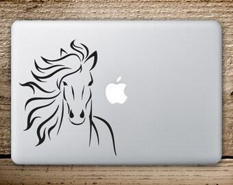 Horse Vinyl Decal - Horse Sticker - Macbook Stickers - Horse Macbook Sticker - MacbookPro Decals - Horse Sticker