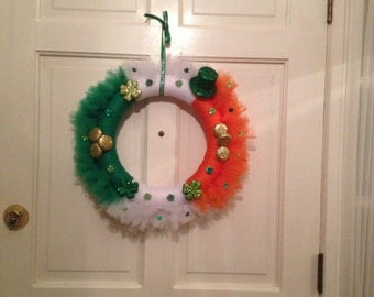St. Patrick's Day Tulle Wreath