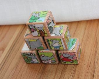 6 BABAR Wooden Blocks