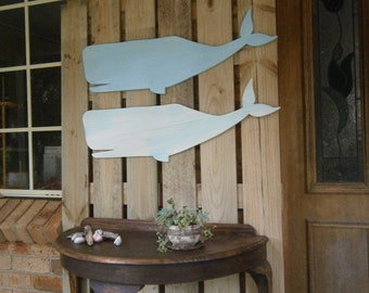 Whale wall hanging.