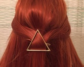 Hollow Gold Triangle Hair Clip