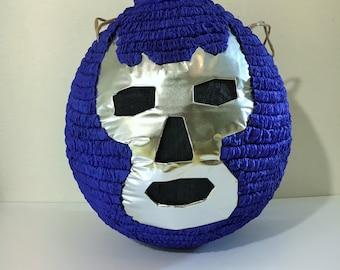 Blue demon ( Mexican wrestler) Pinata