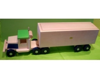 "20.5"" Wooden lorry with a trailer"