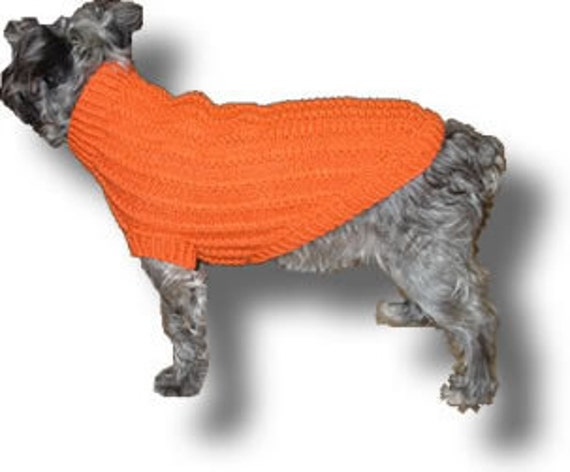 Mini-Cable Dog Sweater Pattern