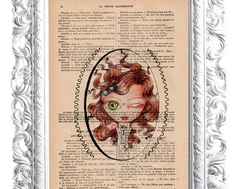 Who I am ?. Print on French publication of illustration. 28x19cm.