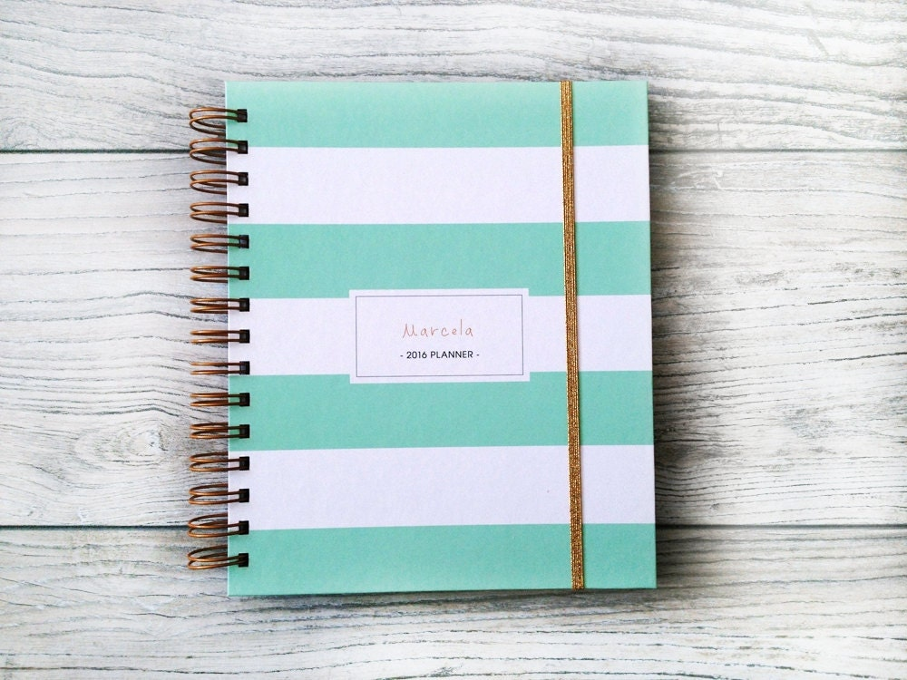 2017 Personalized Planner Stripes Custom 2017 2018 Planner