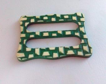 Vintage, buckle, green check buckle, art deco buckle, art deco, buckle, lucite buckle, belt buckle, vintage belt buckle, vintage buckle