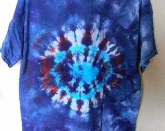 100% cotton Tie Dye T-shirt MMXL54 size XL