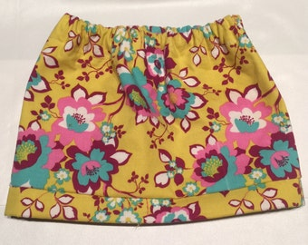 Yellow, Pink, and Teal Skirt