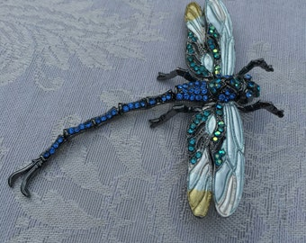 Brooch:  dragonfly costume jewelry