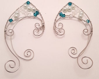 Blue Zicron and Pale Green Elf Ears