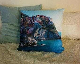 Cinque Terre Coast of Italy Pillow