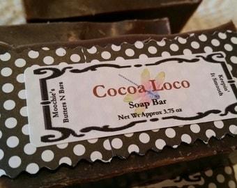Cocoa Loco Handmade Soap (~3.5 oz)