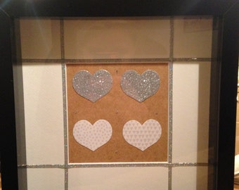 Glitter and hearts picture