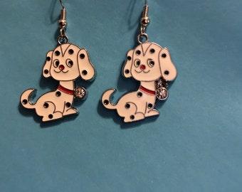 Dalmation Puppy Earrings   C3