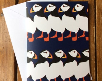 Puffin Party card blank for your message