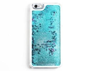 Iphone 6 & 6s Blue and Purple Glitter case