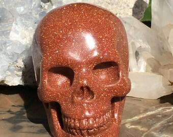 Gold Sandstone Crystal Skull