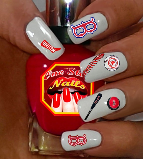 Boston Red Sox Baseball Nail Art Ideas amp Designs  Spirit