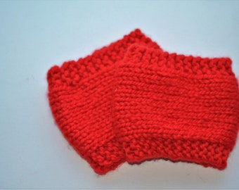 Knit Red Bootcuffs