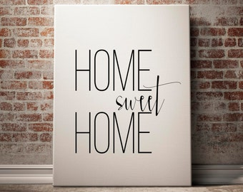 Home Sweet Home, Entrance Wall Art, Home Sweet Home Poster, Home Entrance Decor, Welcome Print, Housewarming Gift, Home Entrance Art