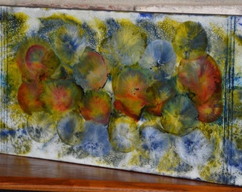 Morning Garden - Encaustic Painting - Encaustic Art
